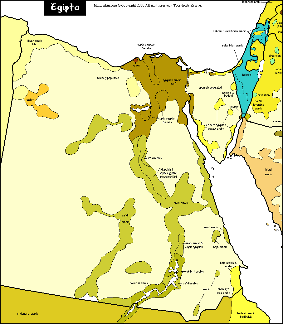 Egypt Linguistic Map - Map of egypt picture