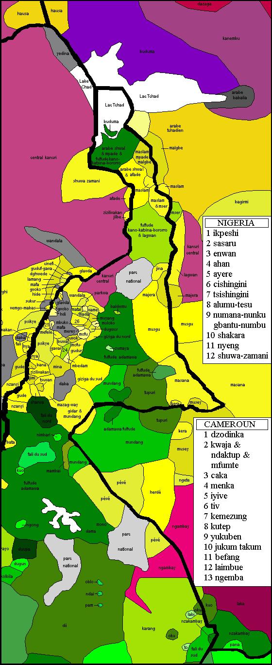Fabuleux Tchad - Carte linguistique GJ48