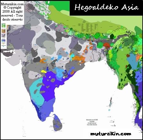 Asia Cartes Linguistiques Linguistic Maps - Asia language map