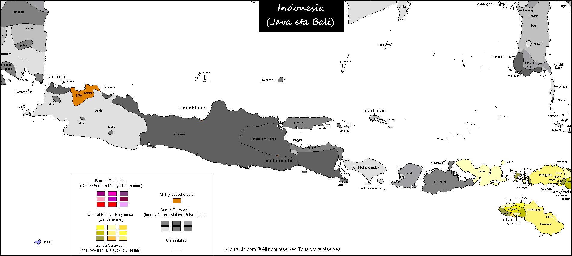 Java Bali Carte Linguistique Linguistic Map