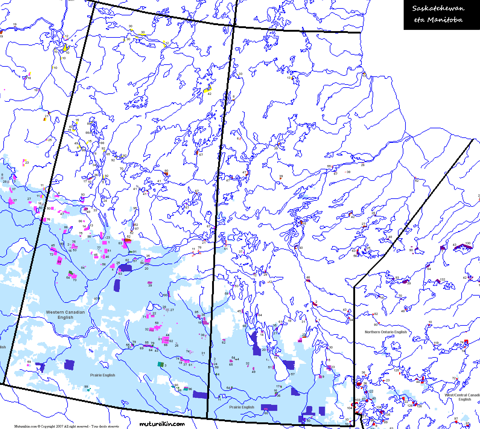 Carte Canada Manitoba.Saskatchewan Manitoba Linguistic Map Carte Linguistique