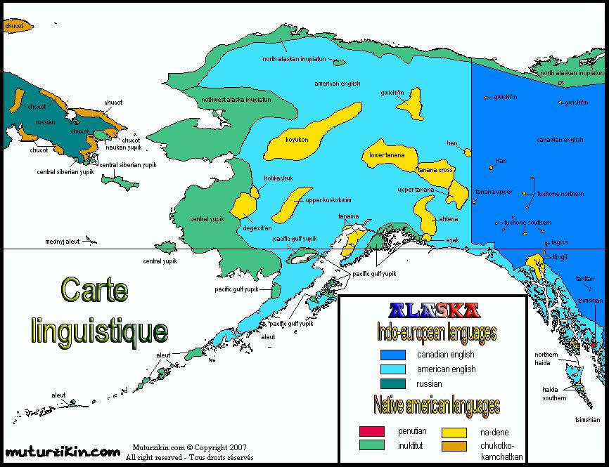 Alaska / Linguistic map