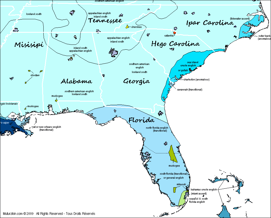 Map Of Florida Georgia And South Carolina Florida, Tennessee, Alabama, Georgia, North & South Carolina