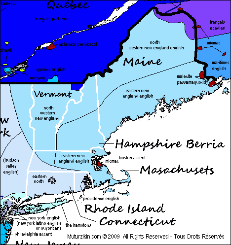 Maine, Vermont, Machusetts, New Hampshire, Rhode Island ... on