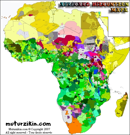 africa map by language Africa Cartes Linguistiques Linguistic Maps africa map by language