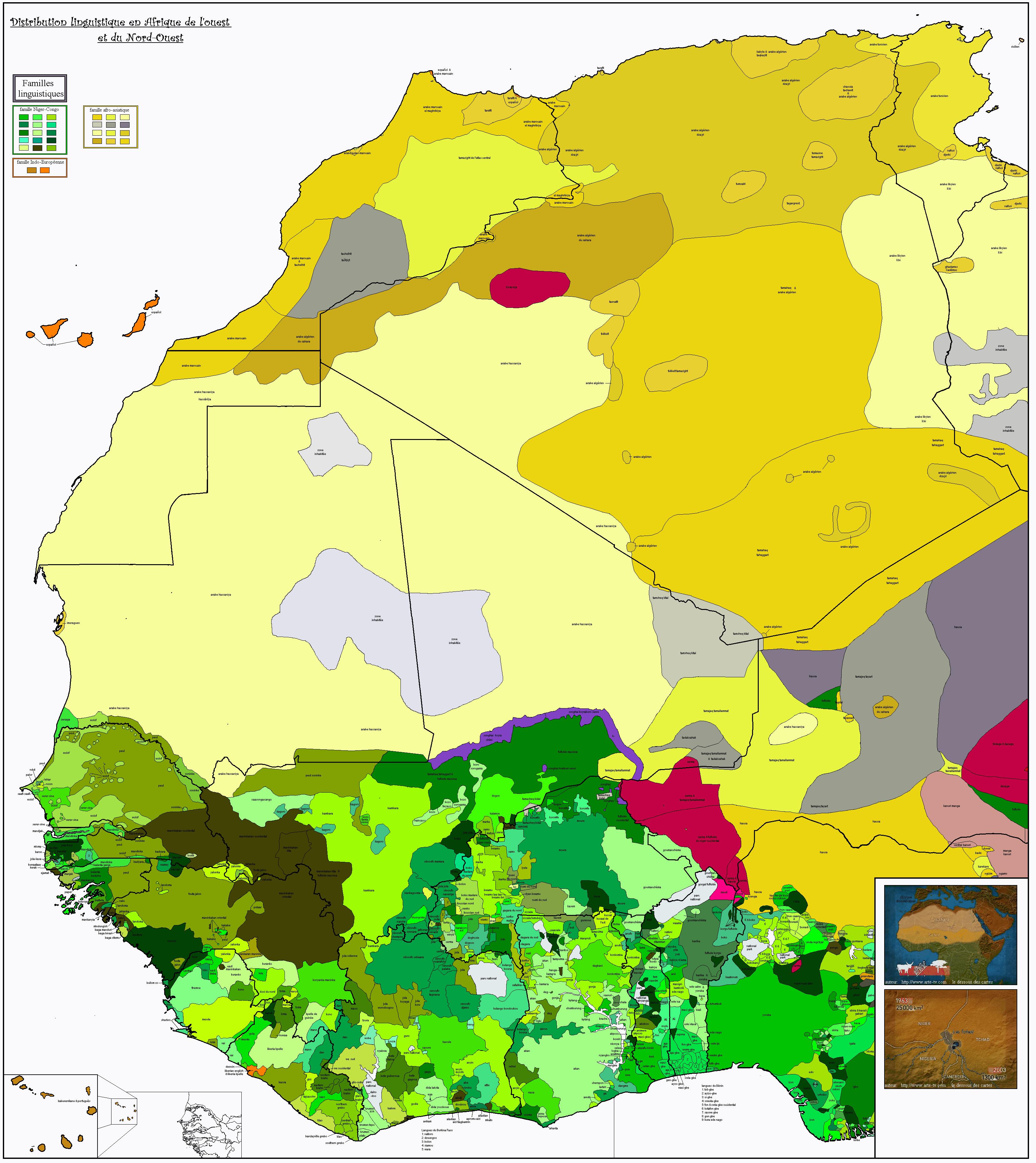 Carte Afrique Tl.West Of Africa Ouest De L Afrique