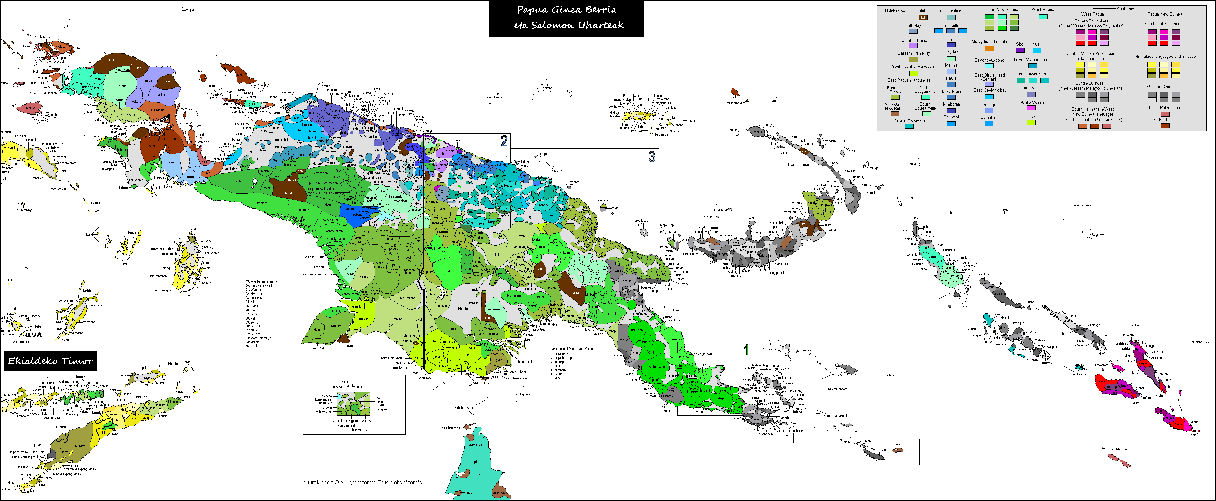 Papua-New Guinea, Solomon Islands & Timor Leste - Carte ...