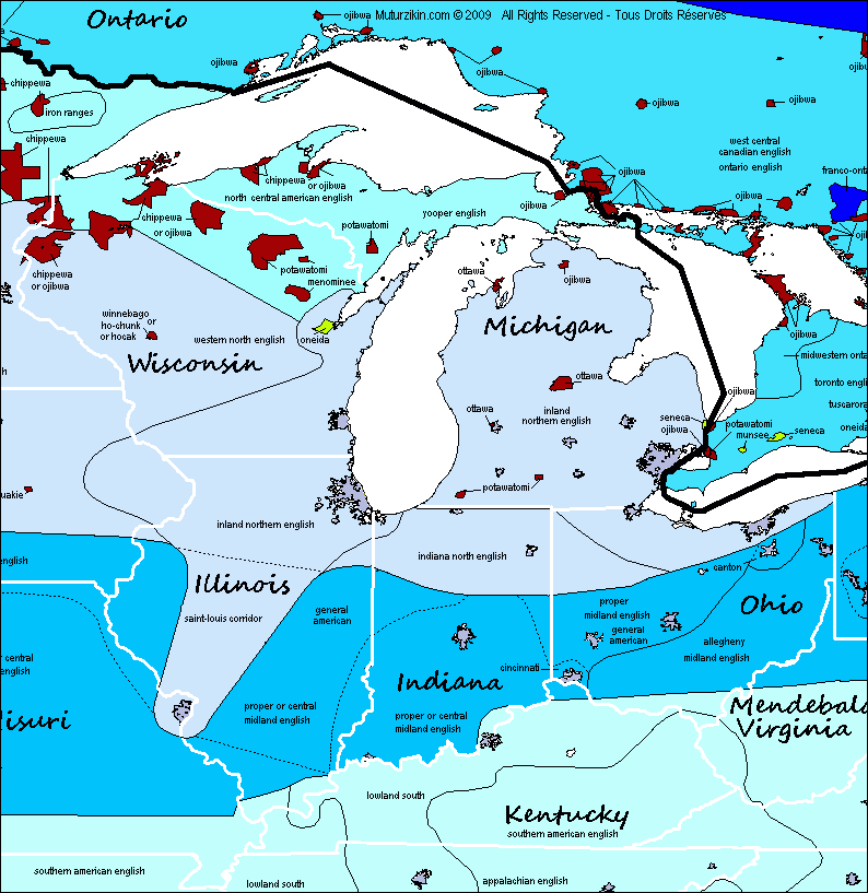 Wisconsin, Michigan, Illinois, Indiana, Ohio & Kentucky ... on illinois on a map of north america, iowa and illinois usa, detroit map usa, illinois storm radar map, cartoon map of usa, illinois county map, illinois state,